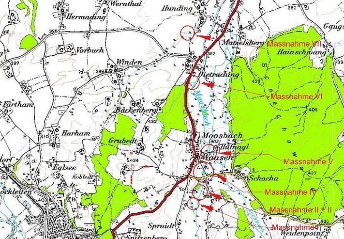 Karte Hochwasserschutz Moosbach-Waasen
