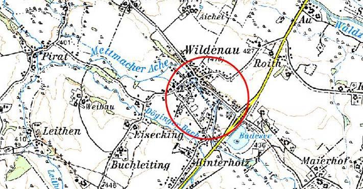 Karte Hochwasserschutz Wildenau