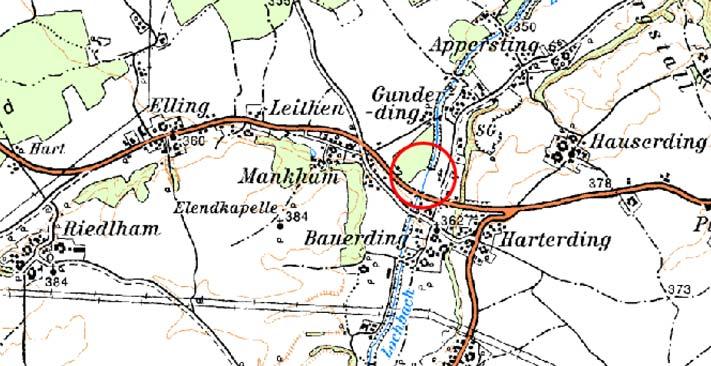 Karte, Lochbach, Müllnerstufe