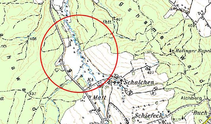 Karte - Rückhaltebecken Altbach