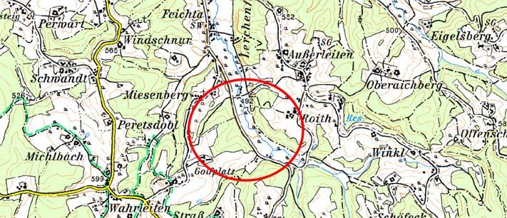 Karte Rückhaltebecken Feichtabach