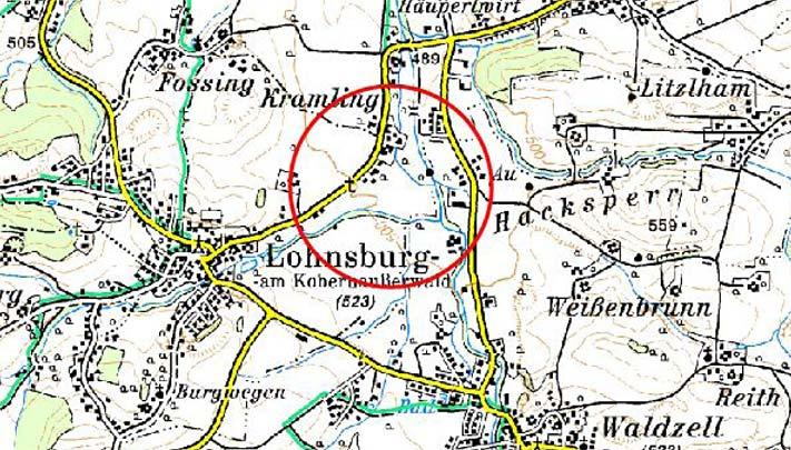 Karte Rückhaltebecken Lohnsburgerbach