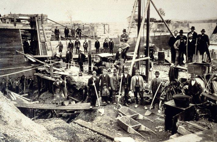 Das Stieglmüllerwehr 1911