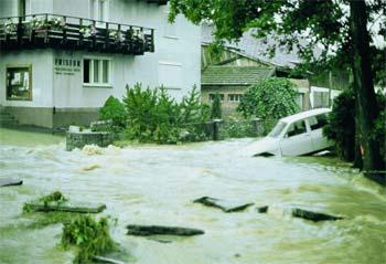 Hochwasser 1977 in Aspach