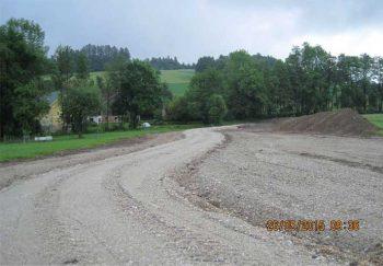 Dammaufstandsfläche des linksufrigen Einfangedammes Kraxenberg