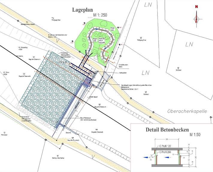Lageplan Sanierung Stieglmüllerwehr