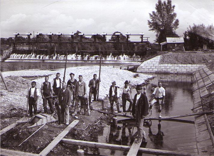 Die Wehranlage Mamling 1920