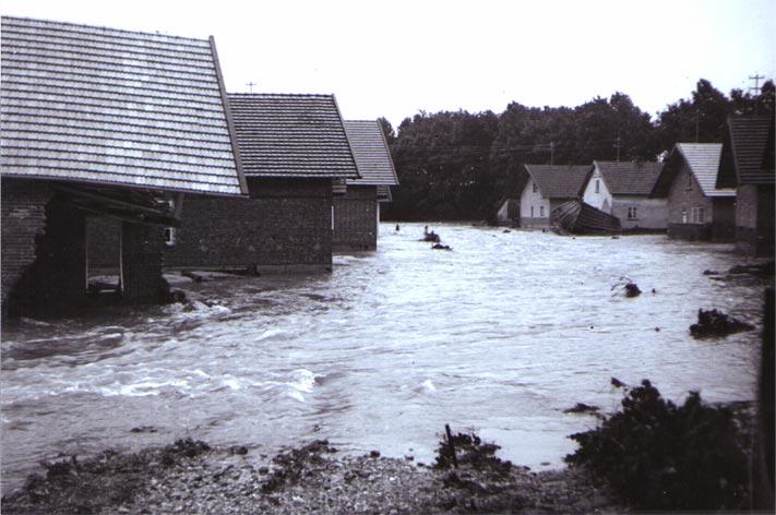 Hochwasser am Dornergries 1954