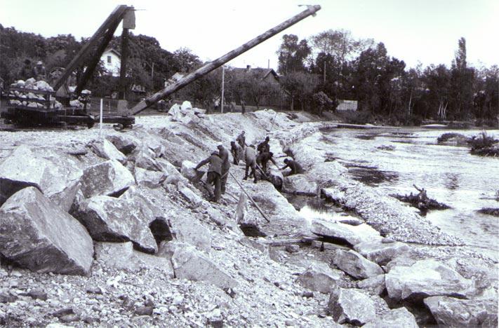 Schadensbehebung an der Ache 1954-1964