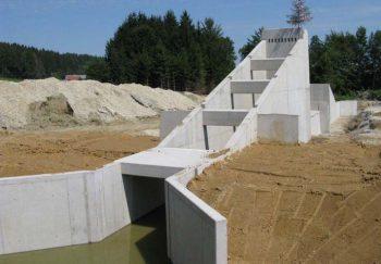 Fertiges Durchlassbauwerk ohne Dammbauwerk